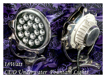 18 Watt LED RGB Underwater Fountain Lights