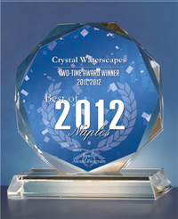 Award Winning! Crystal Waterscapes wins Best of Naples 2011, Commercial and Residential Water Fountains